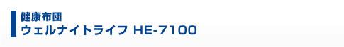 健康布団 ウェルナイトライフ HE-7100