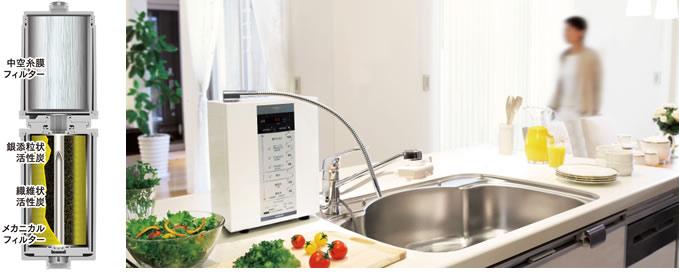 優れた浄水機能でさらにきれいな水を作りだします。